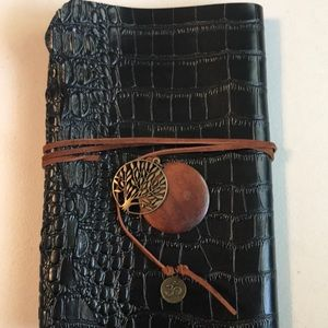 Other - Black croc embossed leather Journal